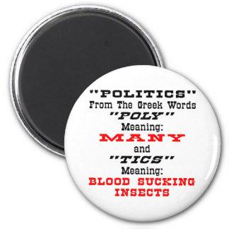 Política; De Griego redacta muchos lechones de la  Imán Redondo 5 Cm
