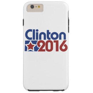 Política de la estrella de Clinton 2016 Funda De iPhone 6 Plus Tough