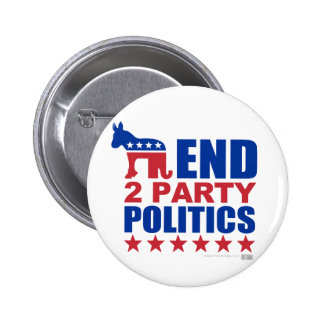 Política de partidos del final dos pin redondo 5 cm