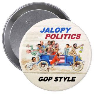 Política del Jalopy Pin Redondo De 4 Pulgadas