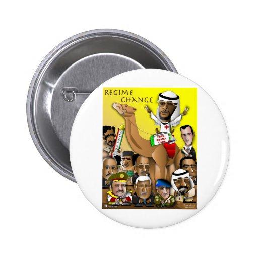 Política del petróleo bruto de Obama Pin Redondo 5 Cm