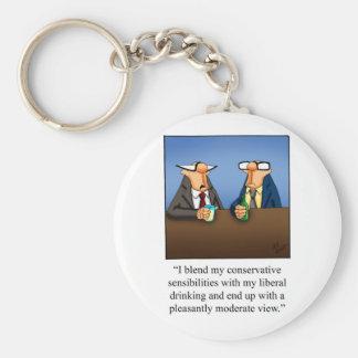 ¡Política divertida y regalo de consumición del di Llavero Redondo Tipo Pin