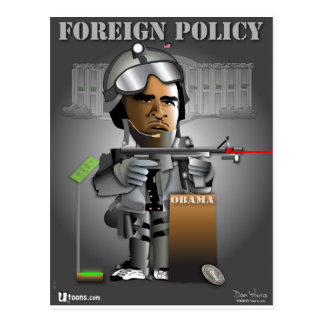Política exterior de Obama Tarjeta Postal