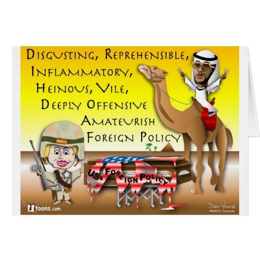 Política exterior vil felicitaciones