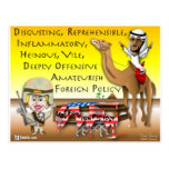 Política exterior vil tarjeta postal