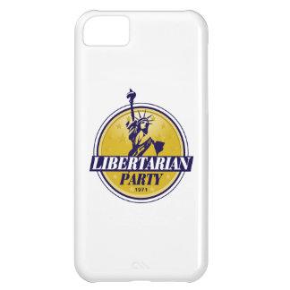 Política libertaria del logotipo del fiesta carcasa para iPhone 5C