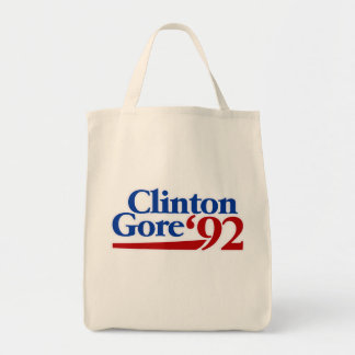 Política retra de Clinton Gore 1992 Bolsa Tela Para La Compra