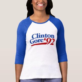 Política retra de Clinton Gore 1992 Playera