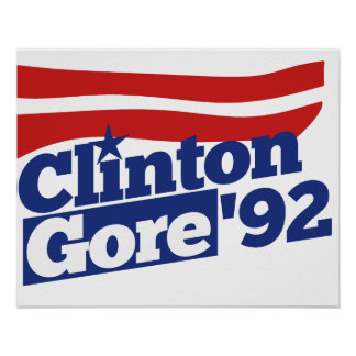 Política retra de Clinton Gore 92 Impresiones