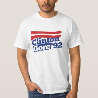 Política retra de Clinton Gore 92 Playera