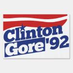 Política retra de Clinton Gore 92 Señal