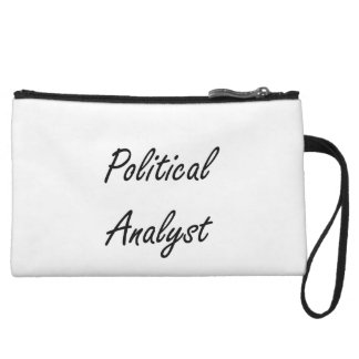 Political Analyst Artistic Job Design Wristlet