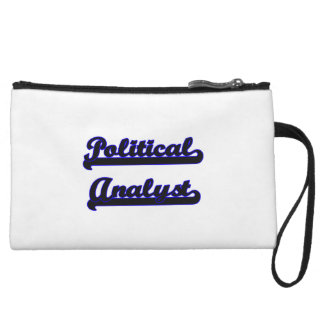 Political Analyst Classic Job Design Wristlet Purses