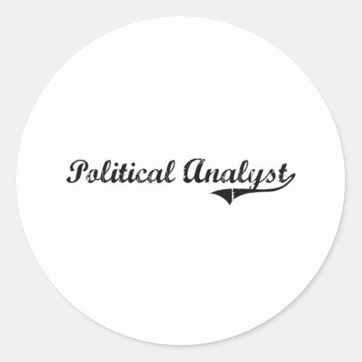 Political Analyst Professional Job Classic Round Sticker