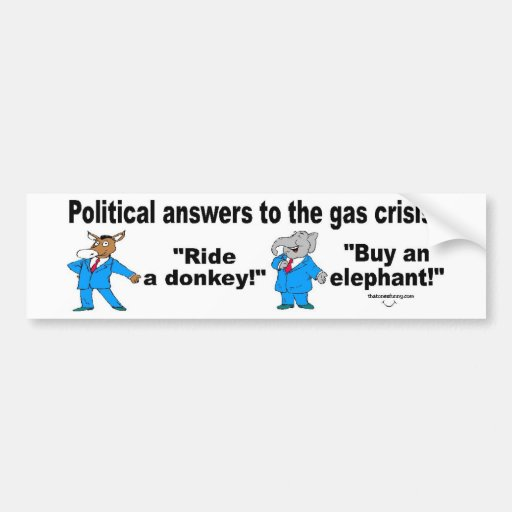 Political answers? bumper stickers