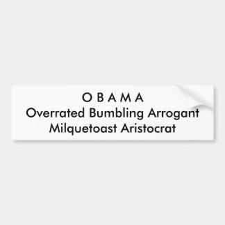 Political, Anti-Obama Bumper Sticker
