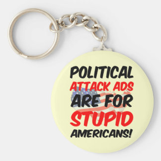 Political attack ads keychain