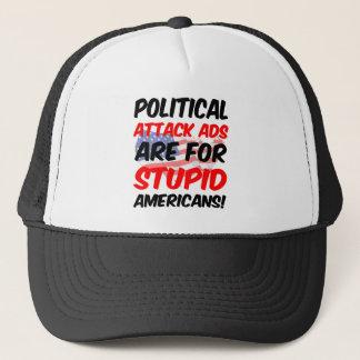 Political attack ads trucker hat