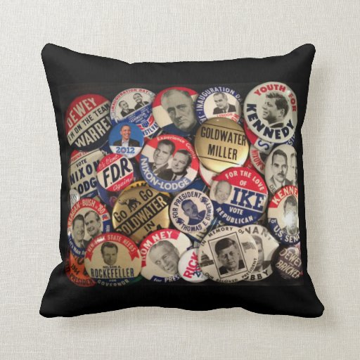 Political Button Pillow