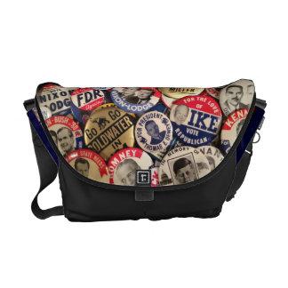 Political Button Shoulder Bag