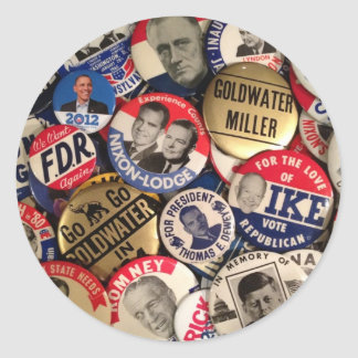 Political Button Stickers