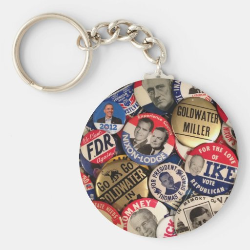 Political Buttons Basic Round Button Keychain