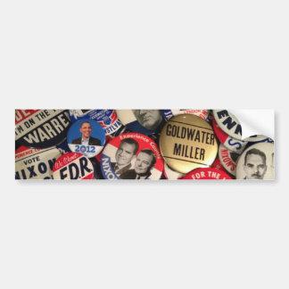 Political Buttons Car Bumper Sticker