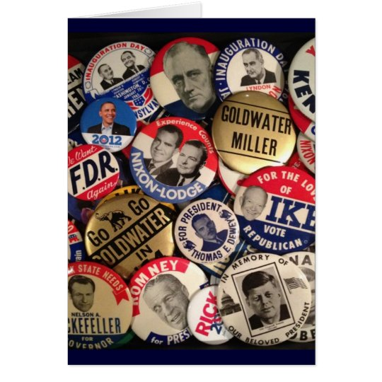 Political Buttons Card