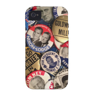 Political Buttons iPhone 4 Case