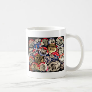 Political Buttons Classic White Coffee Mug