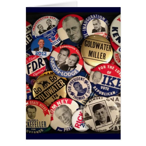 Political Buttons Greeting Card