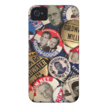 Political Buttons iPhone 4 Case-Mate Cases