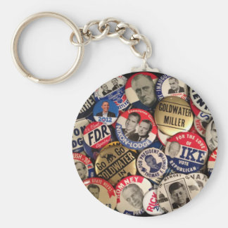 Political Buttons Keychain