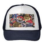 Political Buttons Mesh Hats