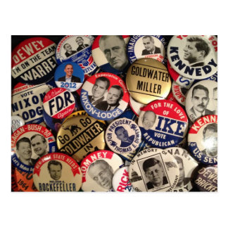 Political Buttons Postcard