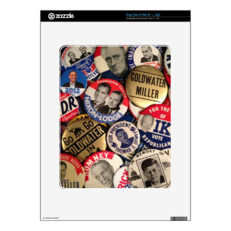 Political Buttons Decals For iPad
