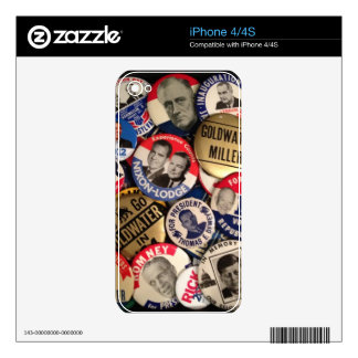 Political Buttons Skins For iPhone 4