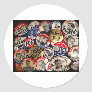 Political Buttons Stickers