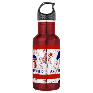 political california democrat distressed water bottle
