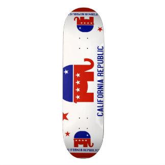political california republic skateboard deck