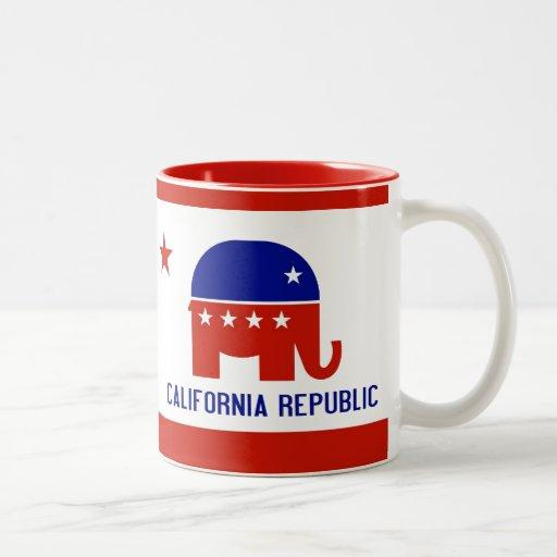 political california republic Two-Tone coffee mug