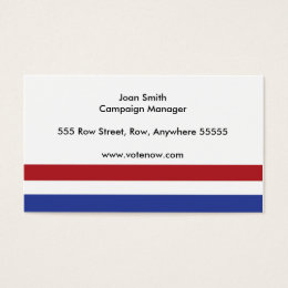 Simple political business cards templates zazzle political campaign business card colourmoves