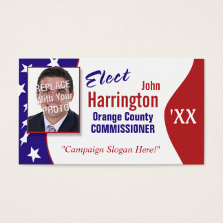 Political Campaign Business Card (Elect)