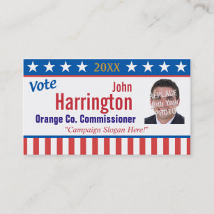 Campaign business cards templates zazzle political campaign business card vote colourmoves