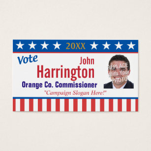 Campaign business cards templates zazzle political campaign business card vote colourmoves