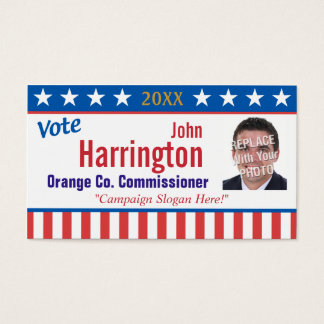Political Campaign Business Card (Vote)