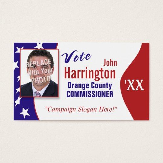 Political campaign business card vote zazzle political campaign business card vote colourmoves