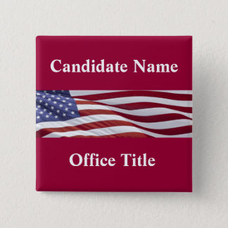 Political Campaign Button Template