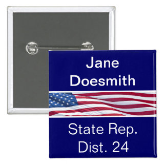 Political Campaign Buttons Template