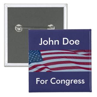 Political Campaign Candidate Button Template